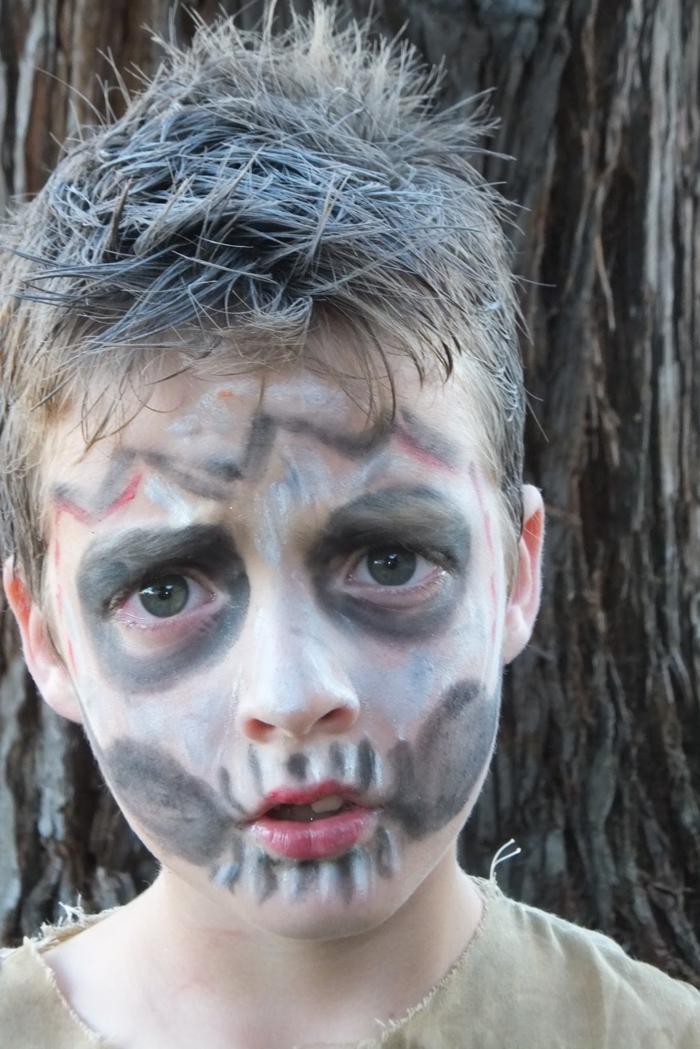halloween schminke ideen jungen zombie lifestyle