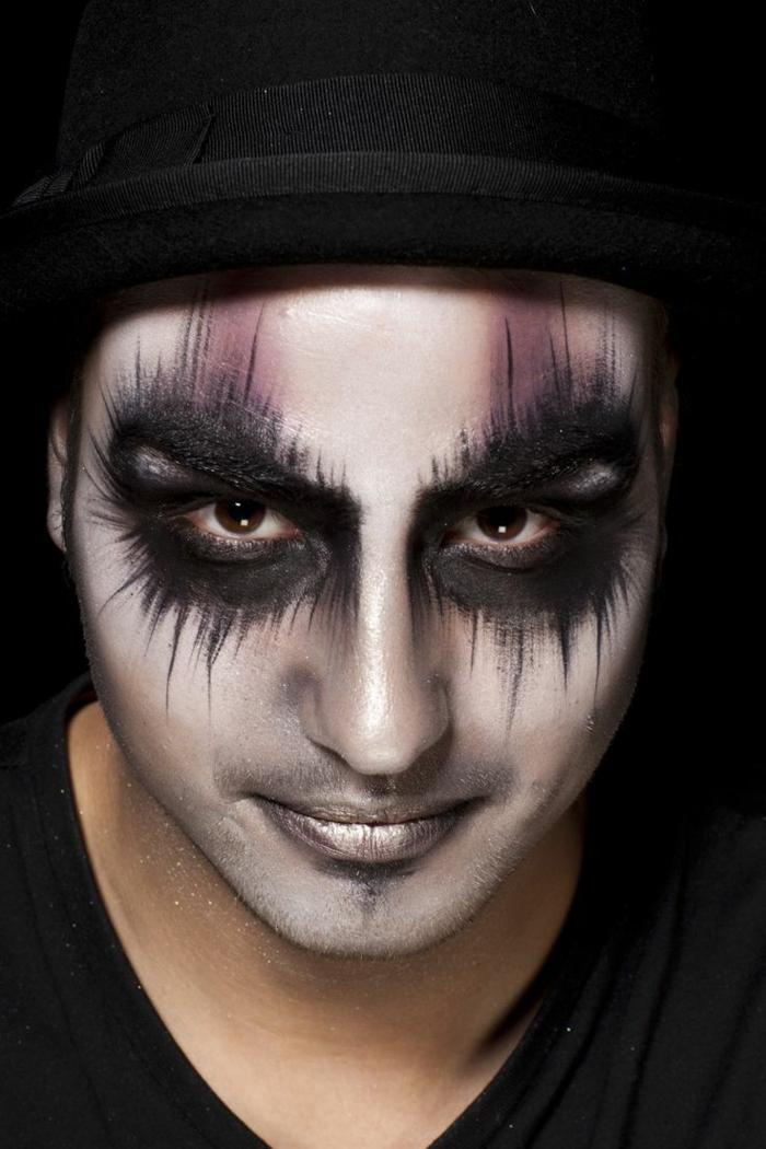 halloween schminke männer ideen origineller look