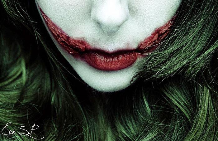 halloween schminktipps von eva pernas lippen schminken joker