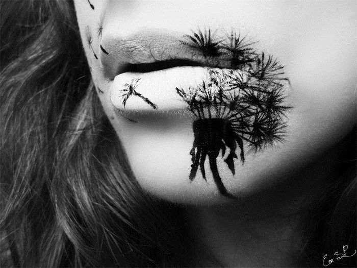 halloween schminktipps von eva pernas lippen schminken schwarz weiß