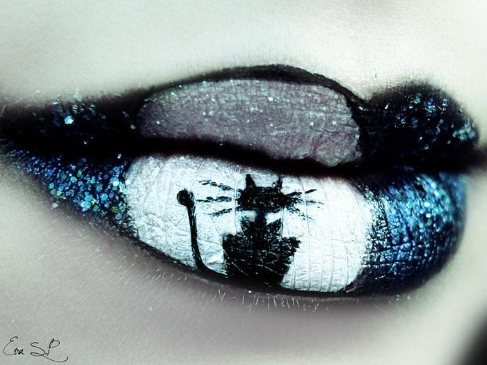 halloween schminktipps von eva senin pernas lippen schminken katze