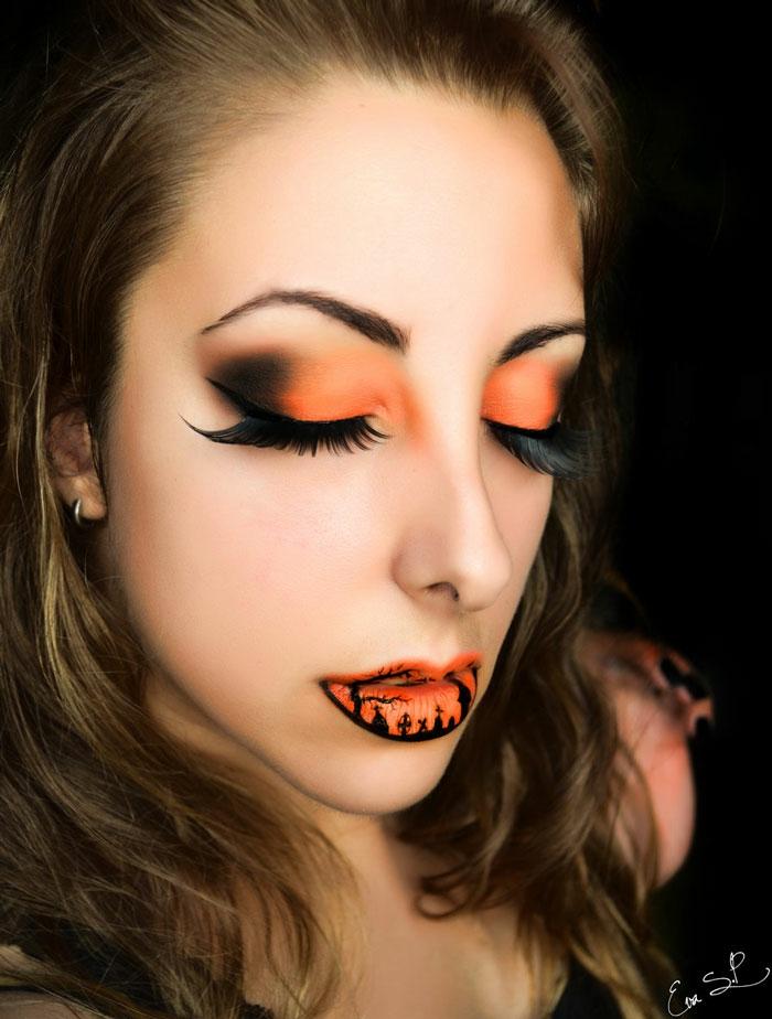 halloween schminktipps von eva senin pernas lippen schminken