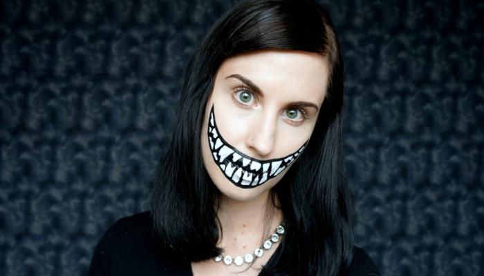 halloween ursprung große zähne make up ideen