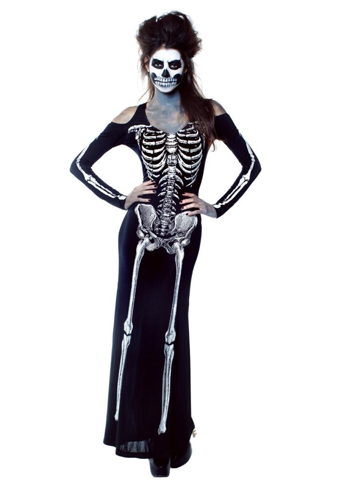 halloween ursprung halloween kostüme ideen frauenkostüme kleid knochen
