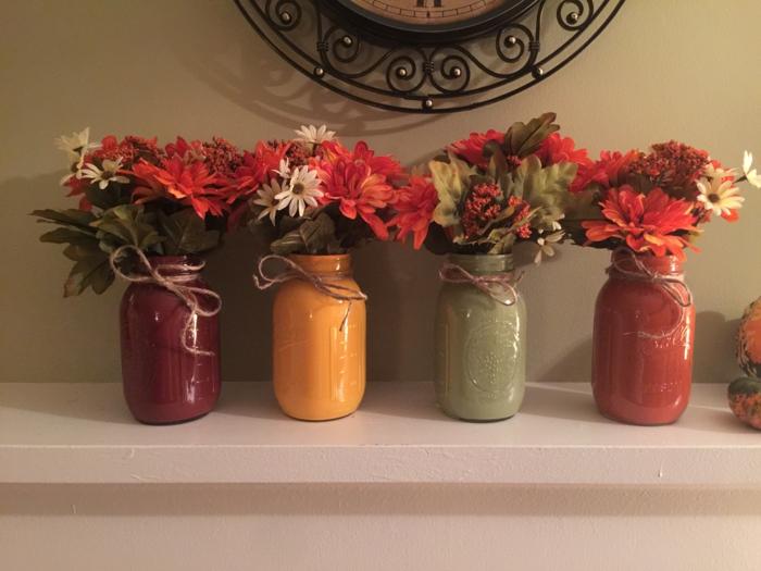 herbst deko diy ideen herbstblumen schöne dekoideen