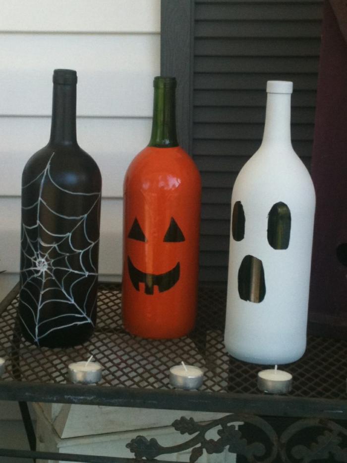 ideen für halloween deko basteln kinder einbeziehen