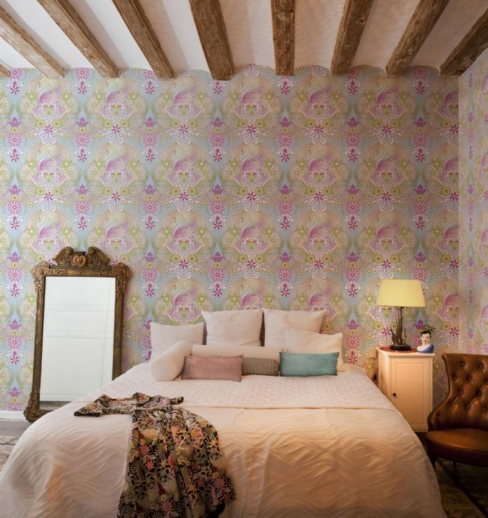 Ideen f r schlafzimmer wie gestaltet man die decke im for Wandtapete fur schlafzimmer