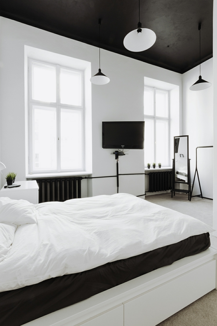 ideen f r schlafzimmer wie gestaltet man die decke im schlafzimmer. Black Bedroom Furniture Sets. Home Design Ideas