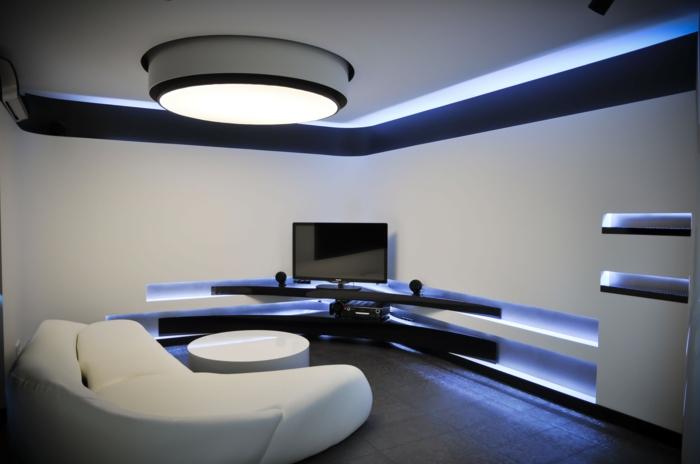 Entzuckend Indirekte Beleuchtung Einbauleuchten Neon Heimkino Minimalistisch