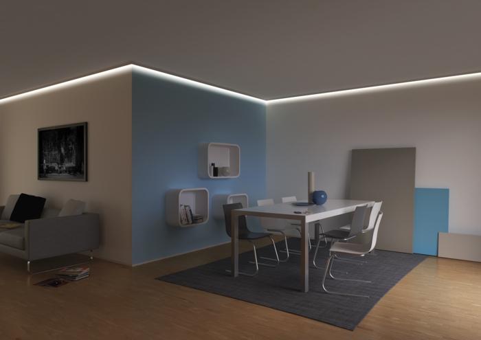 Indirekte Beleuchtung Essbereich Wohnzimmer Gedmmtes Licht