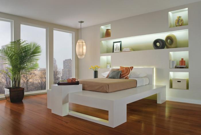 indirekte beleuchtung led leuchten einbauregale schlafzimmer - Indirekte Beleuchtung Schlafzimmer