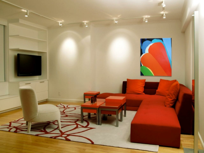 indirekte beleuchtung schienenbeleuchtung wohnzimmer