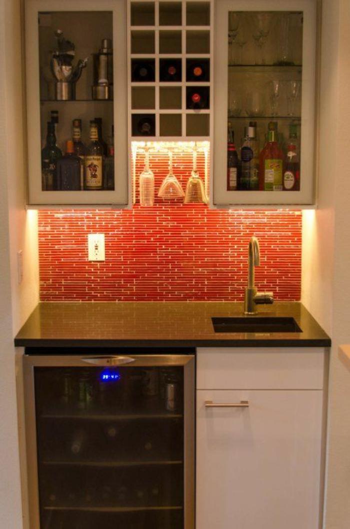 küchenbeleuchtung ideen hängeschränke unterscrankleuchten küchenrückwand