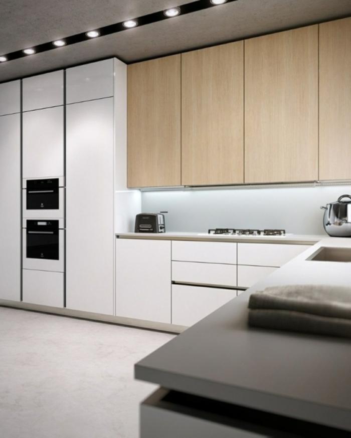 küchenbeleuchtung ideen led deckenleuchten küchenideen