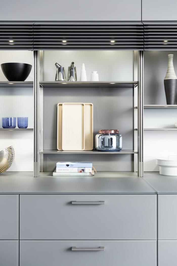 küchenbeleuchtung ideen led leuchten offene regale
