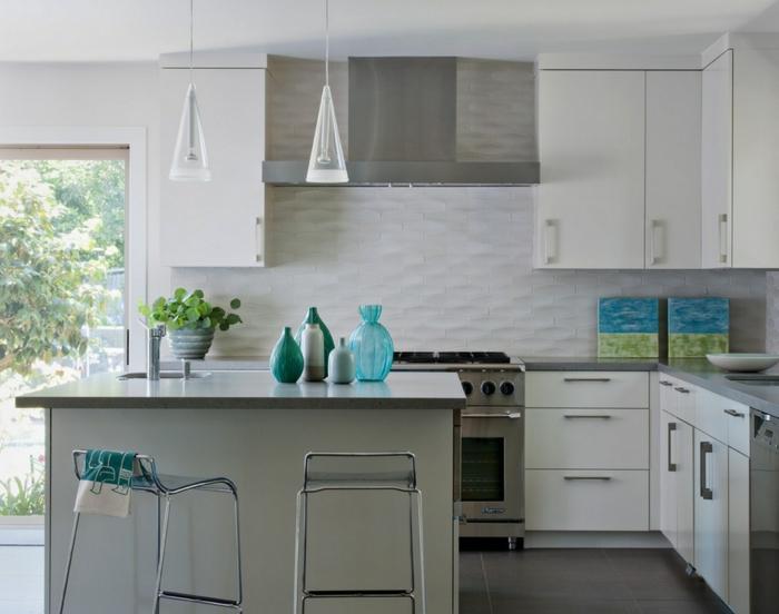 küchenfliesen richtig auswählen weiß dezent ovale form