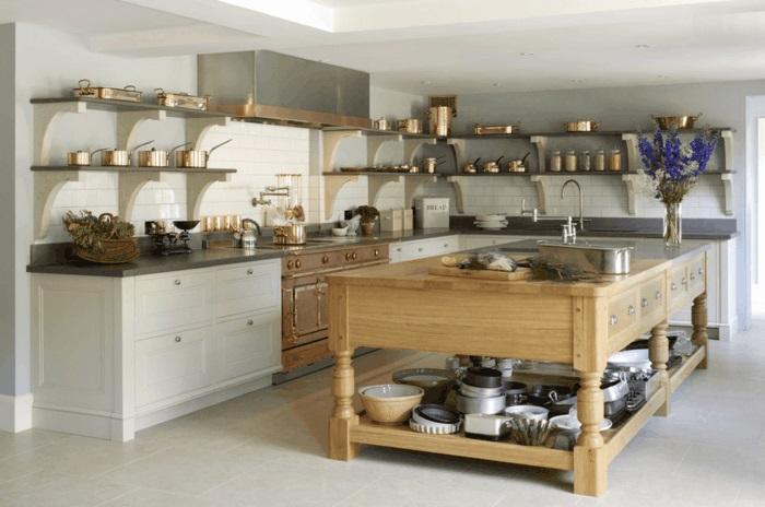 kücheninsel aus massivholz küche mit kochinsel gestalten