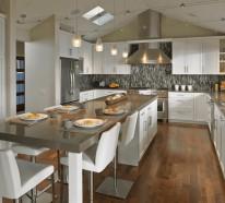 Ist die Kücheninsel ein Muss? – 30 Küchen mit Kochinsel als Inspiration