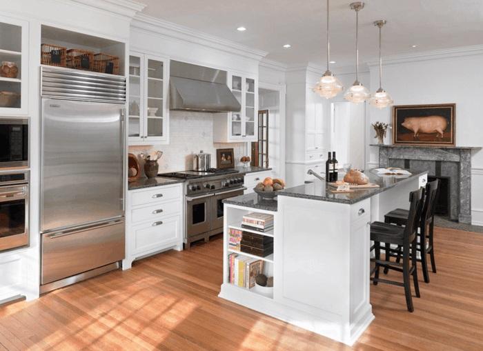 kochinsel mit stauraum für kochbücher küche gestalten