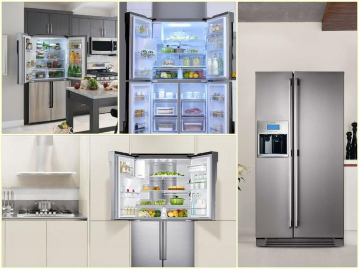 küchenmöbel moderne große kühlschränke mit und ohne gefrierfach