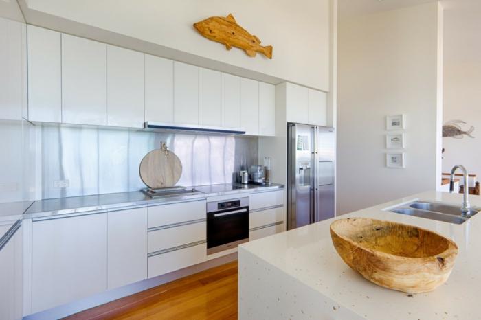 küchenmöbel moderne und große kühlschränke mit gefrierfach