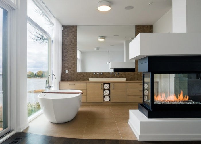Mehr komfort und geborgenheit mit modernem kamin design