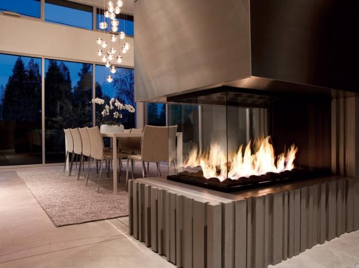 Kamin Design Ideen | Dekoration Ethanol Trennwand Kamin