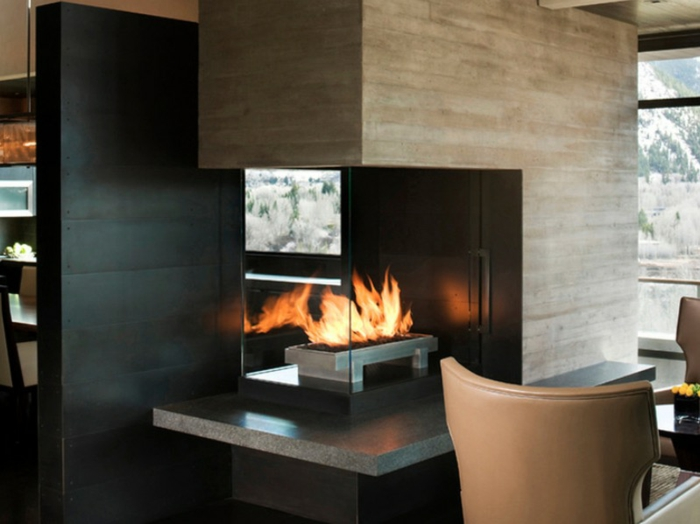 Decorating Ideas U003e Modernes Kamin Design Für Ihr Stilvolles Zuhause ~  162142_Three Sided Fireplace Decorating Ideas Gallery