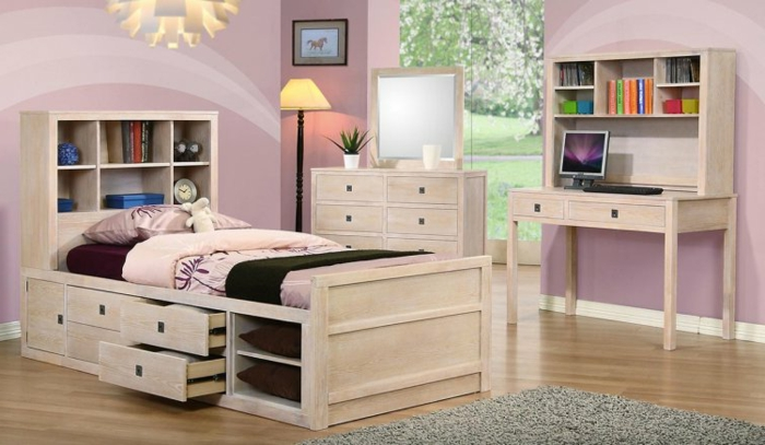 kinderhochbett mit stauraum. Black Bedroom Furniture Sets. Home Design Ideas