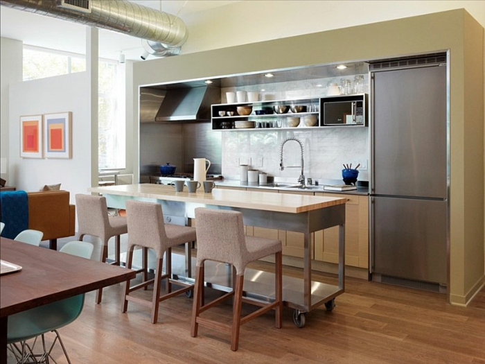 kleine küchen einrichten praktische ideen kücheninsel