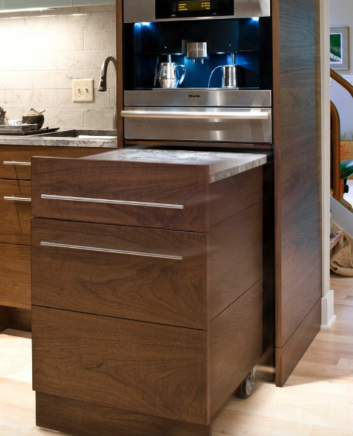 kleine küchen praktische ideen funktionale möbel