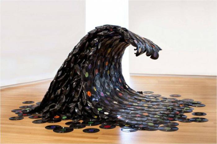 kreative bastelideen mit schallplatten die leicht zu realisieren sind. Black Bedroom Furniture Sets. Home Design Ideas