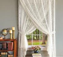 20 stilvolle Beispiele für Gardinen im Landhausstil