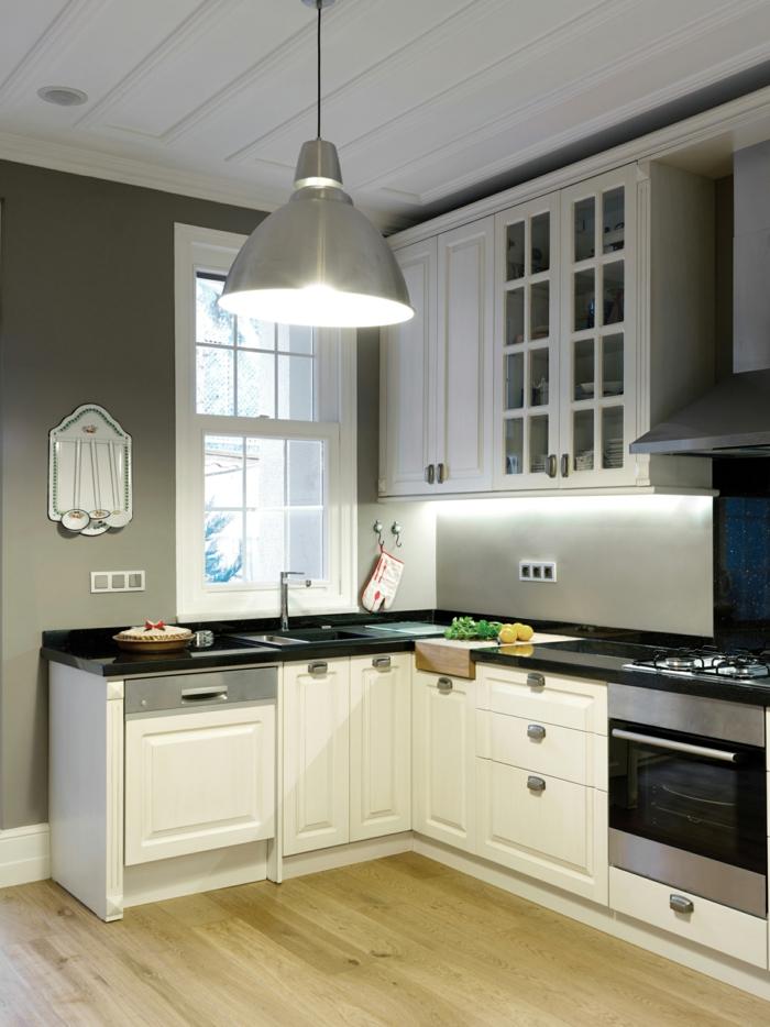 küchenbeleuchtung ideen hängelampe led streifen