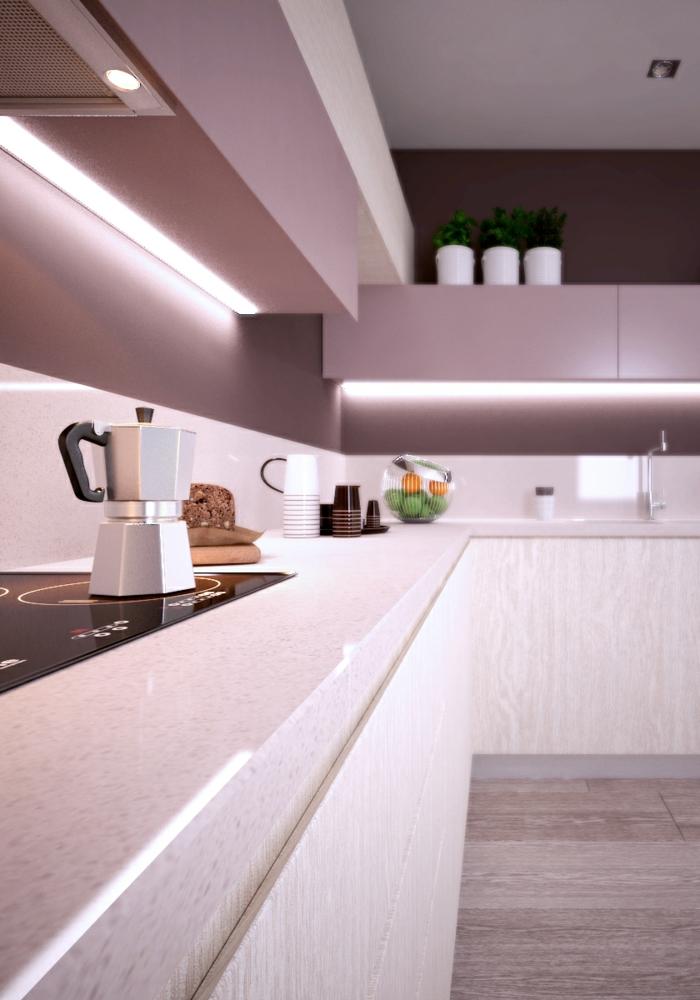 led küchenbeleuchtung küchendesign led streifen