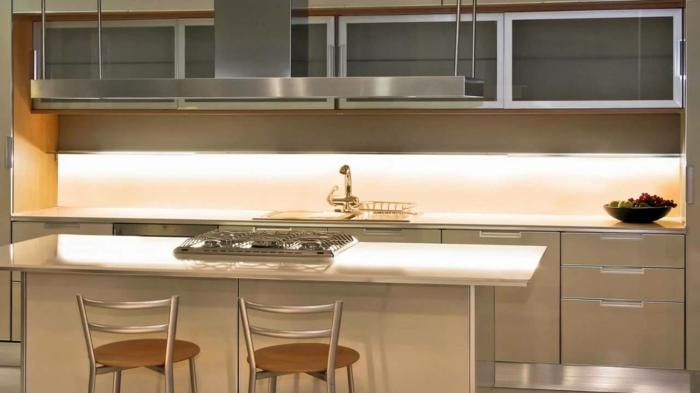 led küchenbeleuchtung led leisten küchenrückwand beleuchten