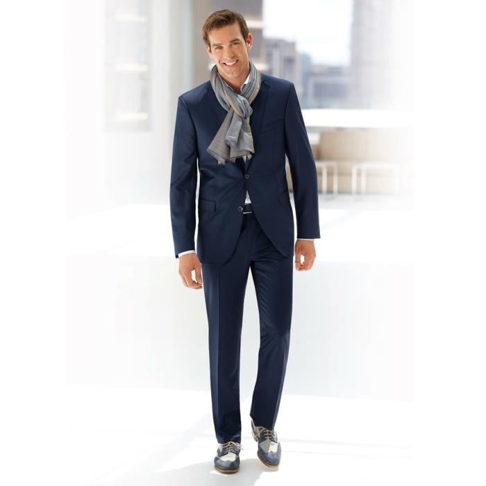 männermode carl gross anzug dunkelblau