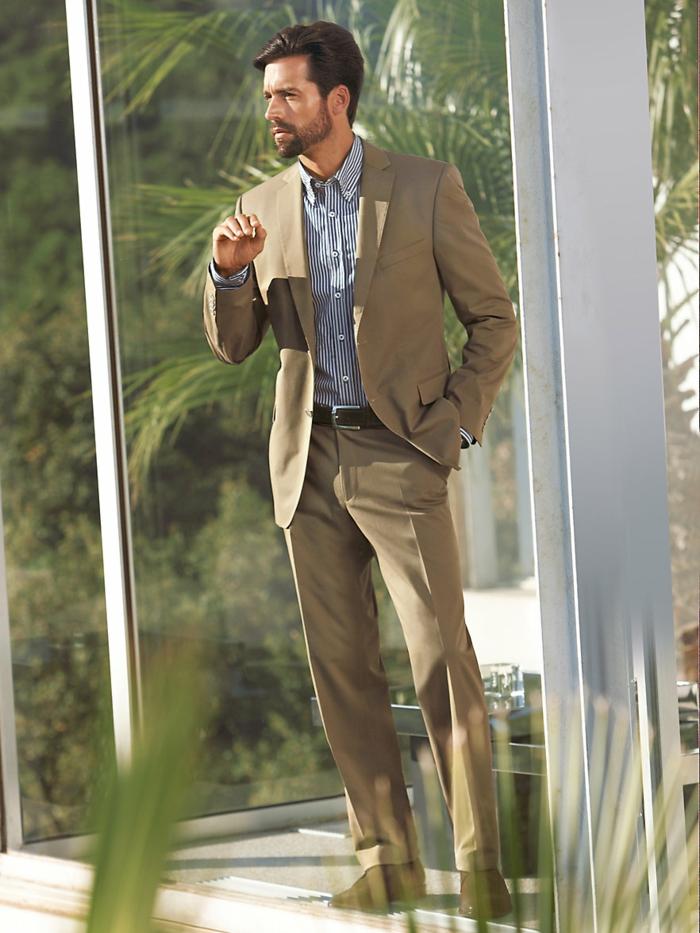 männermode carl gross premium anzug beige