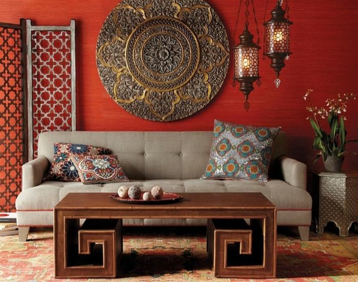 moderne einrichtungsideen global chic wohnzimmer ethnische elemente