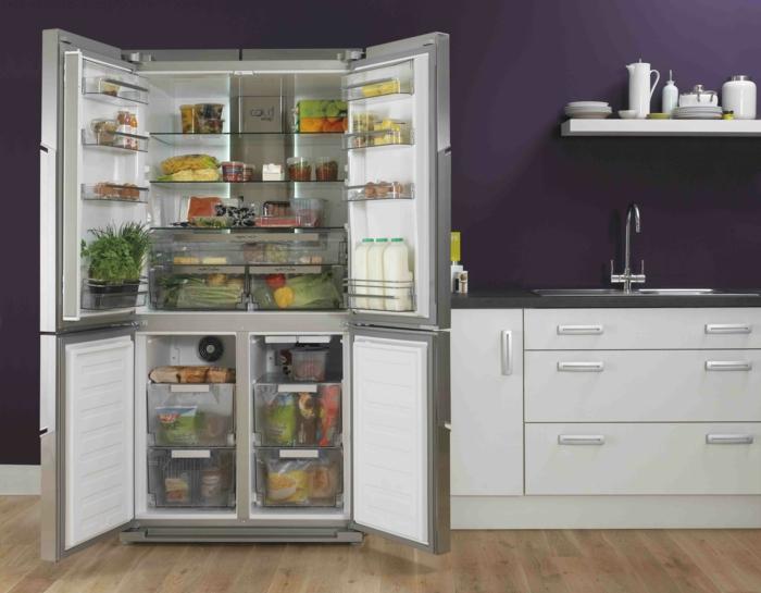 moderne küchenmöbel große kühlschränke mit gefrierfach