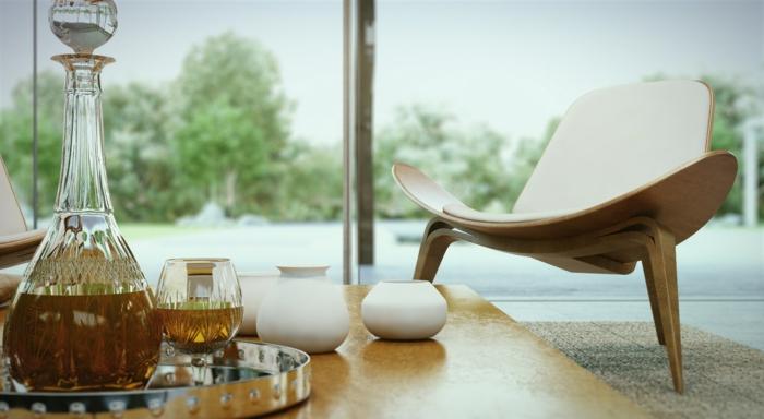 moderne sessel wohnzimmer einrichten wohnzimmernöbel panoramafenster