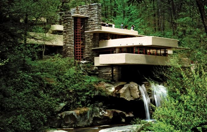 organische architektur Frank Lloyd Wright haus fallingwater