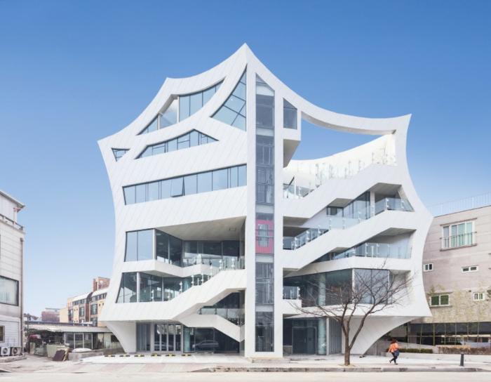 Front Elevation For Commercial Buildings : Organische architektur von den südkoreanischen architekten