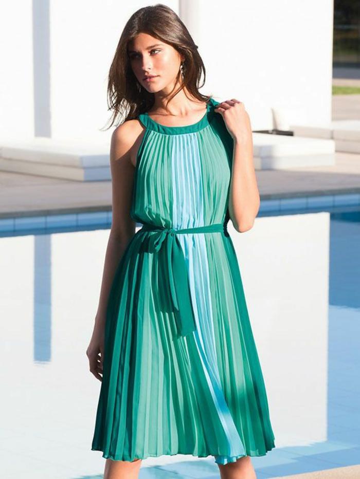peter hahn mode damenmode sommerkleid grün