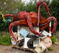 Kreative Plastik Kunst erweckt unser Umweltbewusstsein