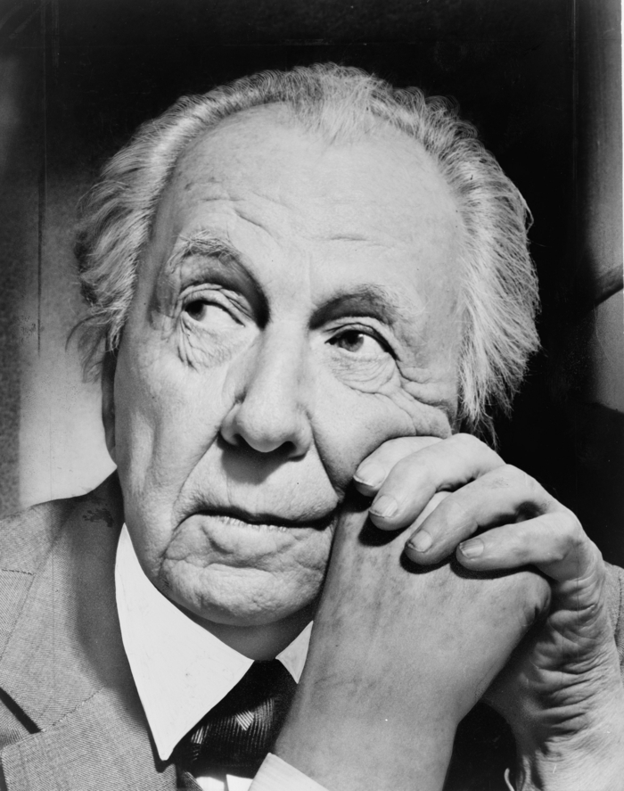 porträt von Frank Lloyd Wright
