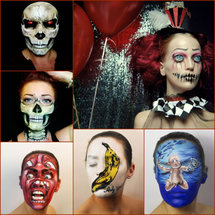 professionelle Halloween Schminkideen und coole make up tipps