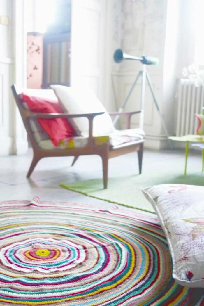 runde teppiche buntes design schöne wohnideen