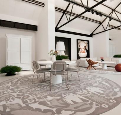 30 runde Teppiche und Beispiele, wie man den Zimmer-Look ...