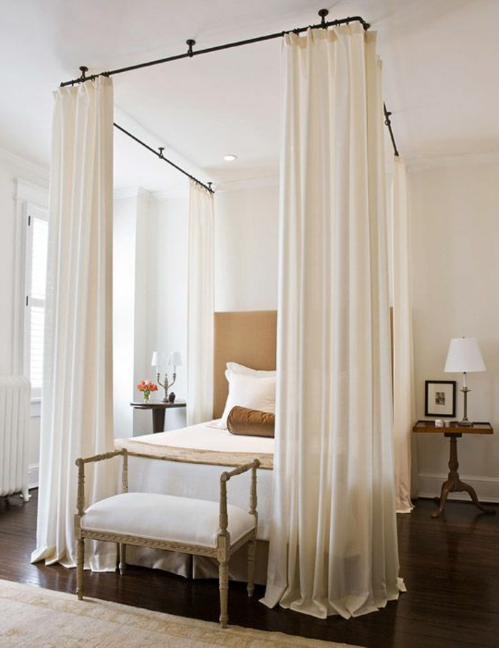 schlafzimmer design himmelbett selber machen schlafzimmerbank